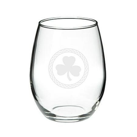 Shamrock Celtic Logo 21 oz Stemless Red Wine Glass