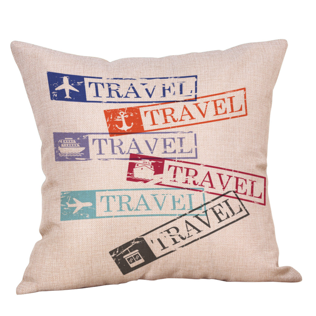 Home Sofa Decorative Pillow Cotton Linen Case Car Bed Waist Throw Cushion Cover