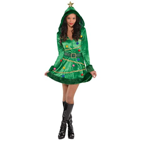 Christmas Tree Dress Adult Costume - Medium - Xmas Tree Costume