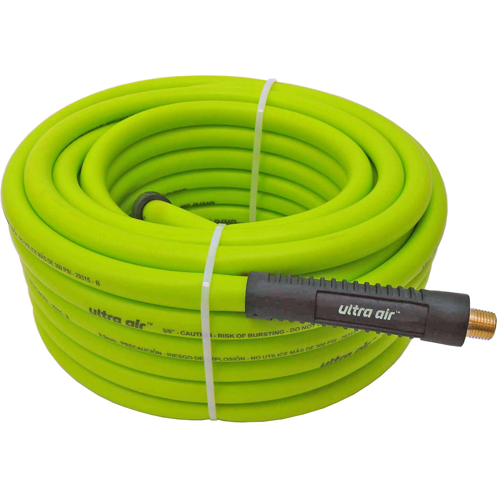 """Amflo 575-50A 50' X 3/8"""" Lime Green Ultra Air Premium Hybrid Air Hose"""