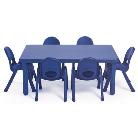 7-Pc MyValue Rectangle Preschool Table and Chair Set