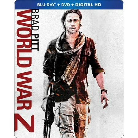 World War Z (Steelbook) (Blu-ray + DVD + Digital)