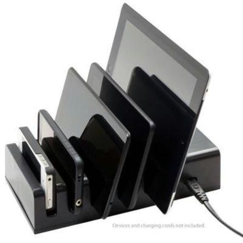 Visiontek 5 Device Charging Station - Docking - Iphone, Ipad, Scanner, Ipod, Tablet Pc, Usb Device, E-book Reader, 3d Glasses, Mobile Phone, Gaming Console - Charging Capability - 5 X Usb (900855)