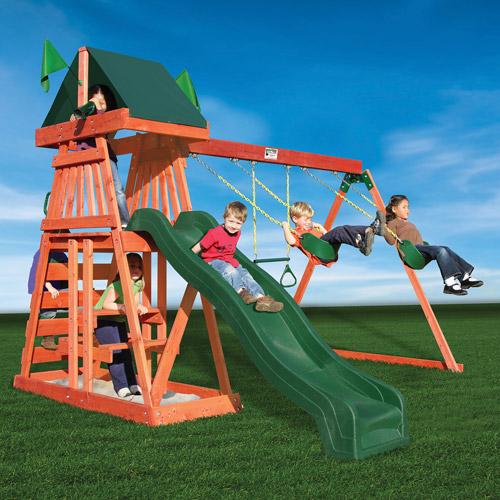 Gorilla Playsets Jungle Journey Cedar Wooden Swing Set