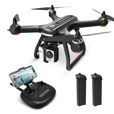 Holy Stone HS700 FPV GPS Drone 1080p HD Camera Live Video GPS Return Home, RC Quadcopter Adults Beginners Brushless Motor, Follow Me, 5G WiFi Transmission, 2 Batteries ()
