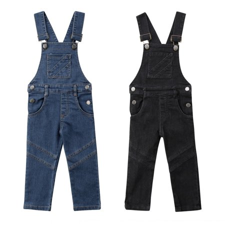 Stock Baby Girl Toddler Trousers Kid Dungaree Overall Jumpsuit Playsuit Jeans (Jump Suit Kids)