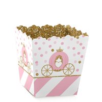 Little Princess Crown - Party Mini Favor Boxes - Baby Shower or Birthday Party Treat Candy Boxes - Set of 12