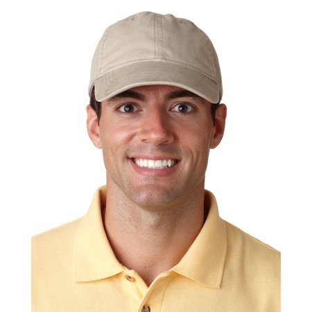 UltraClub Men's Classic Cut Heavy Brushed Cotton Twill Unstructured Cap - 8116