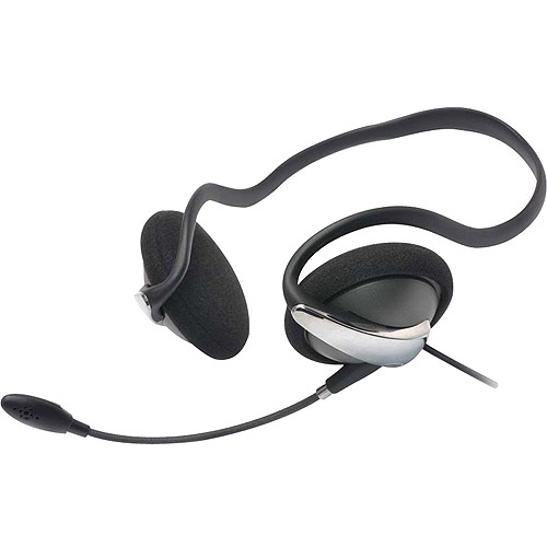 Gear Head Wired Behind-the-Neck Headset with Noise-Canceling Microphone