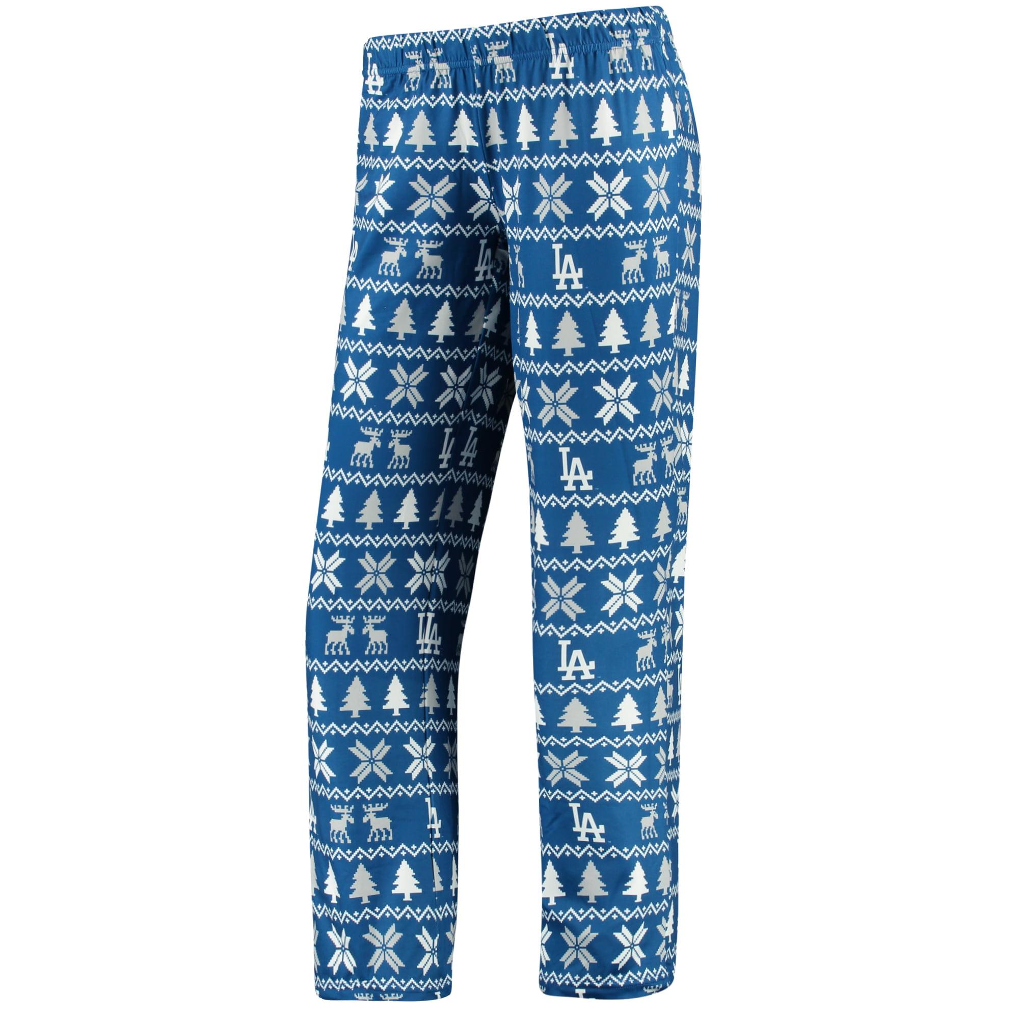 Los Angeles Dodgers Women's Holiday Print Pant - Royal