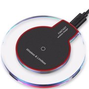 Qi Wireless Charging Pad Slim Charger Dock For Apple iPhone X/XS/XR/XS max iPhone 8/8 Plus Samsung Galaxy S8 S9+ S10 S10e S10+ Galaxy S6 S7 Edge Plus Note 10 10+ 9 8 5 & All Android Qi-Enabled Devices