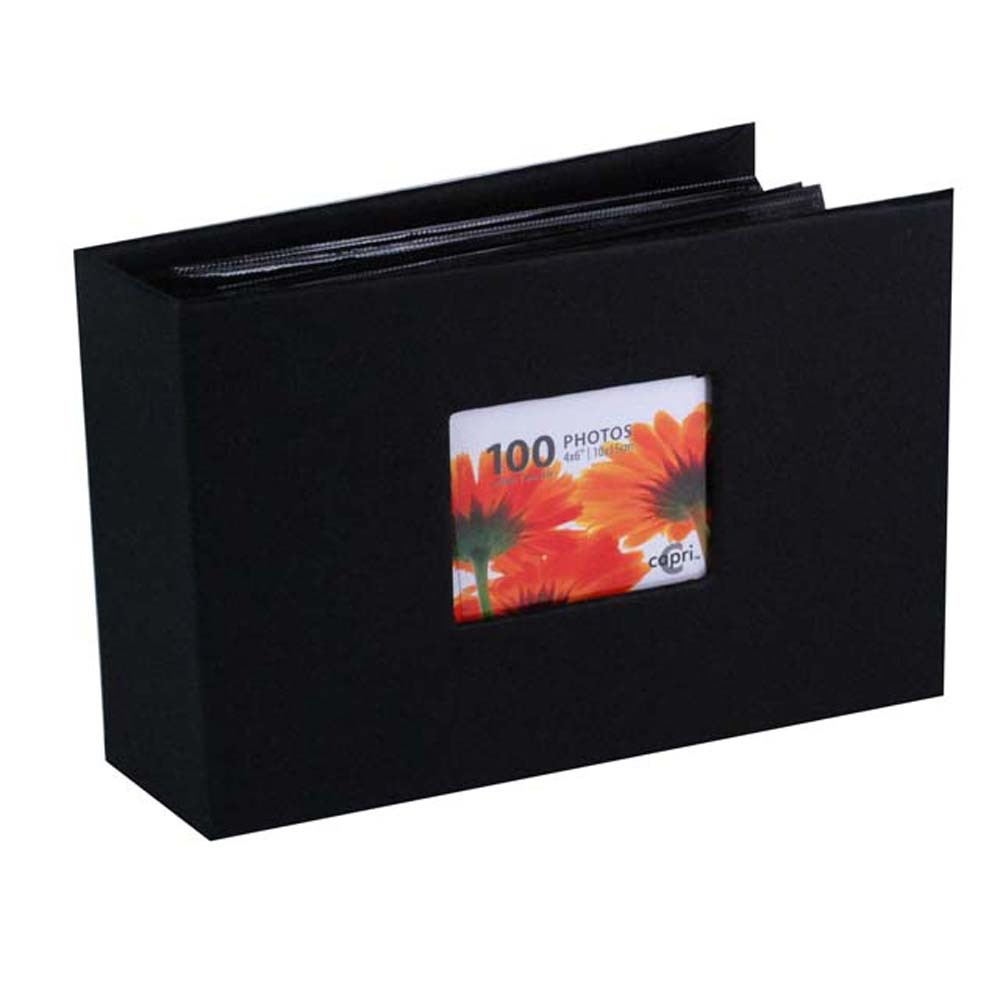 Enigma 4 In. by 6 In. Photo Album for 100 Photos, Black