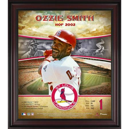 Ozzie Smith Career - Ozzie Smith St. Louis Cardinals Framed 15