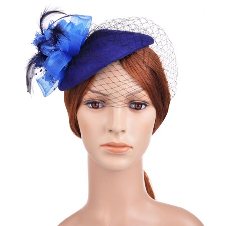 Womens Pillbox Flower Derby Hat Vintage Bow Fascinator Hats for Cocktail  Ball Wedding Church Tea party - Walmart.com 1c91787c5158