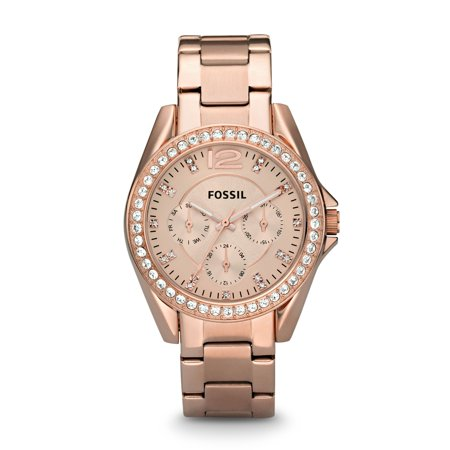 Fossil Women's Riley Multifunction Rose Gold Stainless Steel Watch (Style: ES2811P) (Fossil Watches Black Leather)