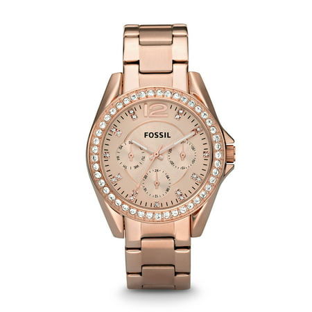 Fossil Women's Riley Multifunction Rose Gold Stainless Steel Watch (Style: -