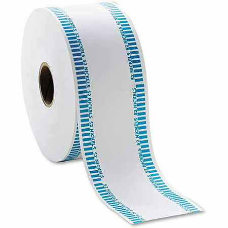 Automatic Coin Flat Wrapper Roll - MMF Industries Automatic Coin Flat Wrapper Rolls, Nickels, 1900 Wrappers/Roll