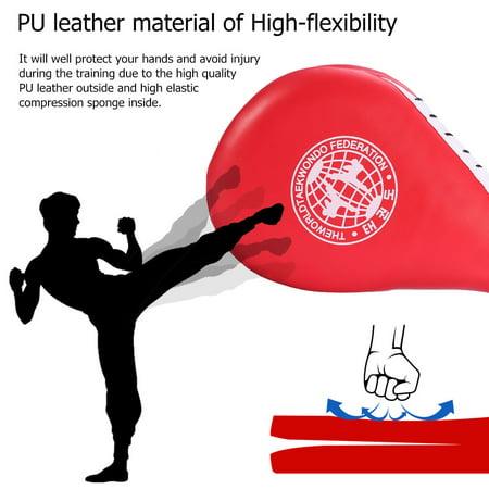 - HURRISE Striking Pad,1 PC Double  Clapper Target Focus Kick Striking Pad Karate Taekwondo Kickboxing(Red)
