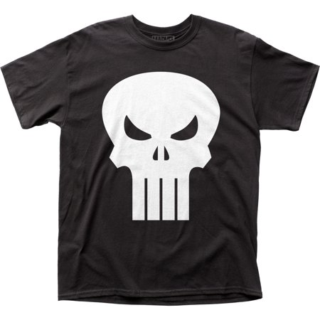 4123513b7 Punisher Antihero Marvel Comics Comic Book Skull Logo Adult T-Shirt Tee -  image 1 ...