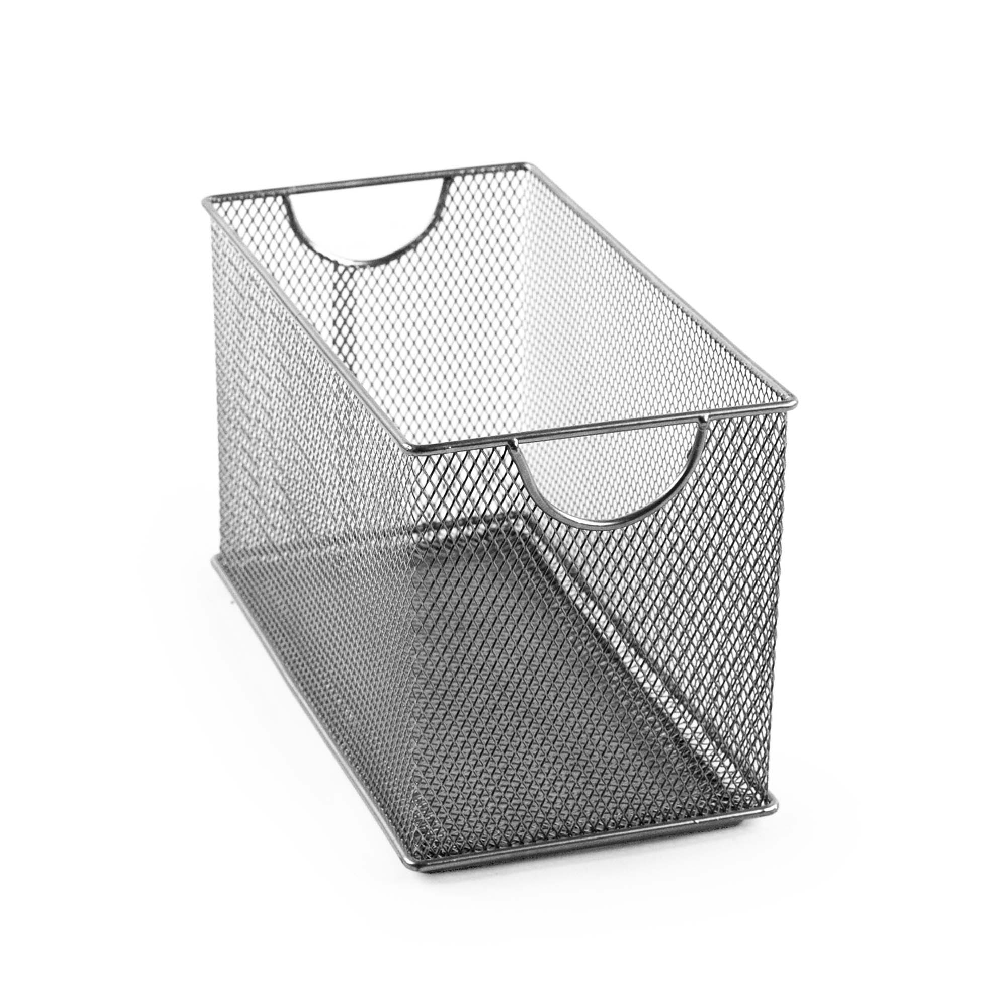 Design Ideas CD Box, Silver Metal Mesh