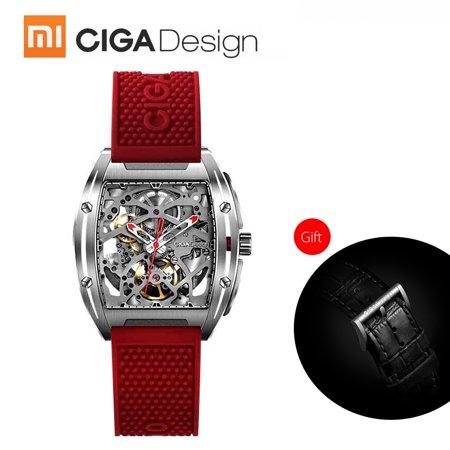 Xiaomi CIGA Design Men Automatic Mechanical Analog Watch Hollow Stainless Steel Business Casual Wrist Watch Gift