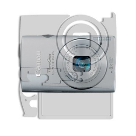 Skinomi Clear Full Body Protector Film Cover for Canon PowerShot ELPH 310 HS (Canon Film Body)