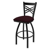 Holland Bar Stool Co Catalina Cross Back 36 in. Extra Tall Swivel Bar Stool with Faux Leather Seat