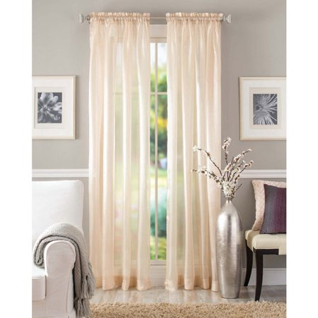 Better homes and gardens shimmer sheer curtain panel Better homes and gardens curtains