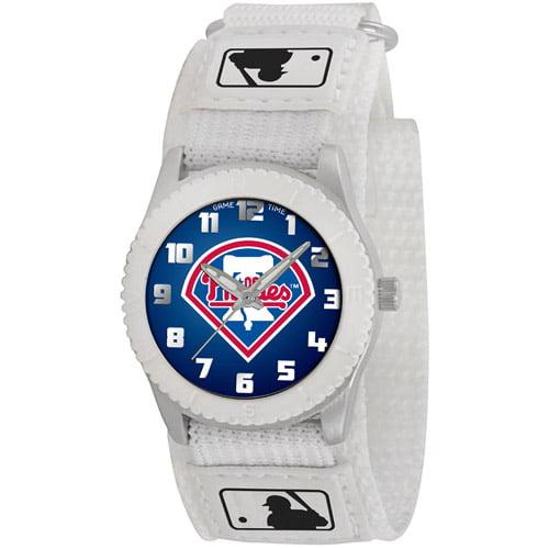 Game Time MLB Men's Philadelphia Phillies Rookie Series Watch, White