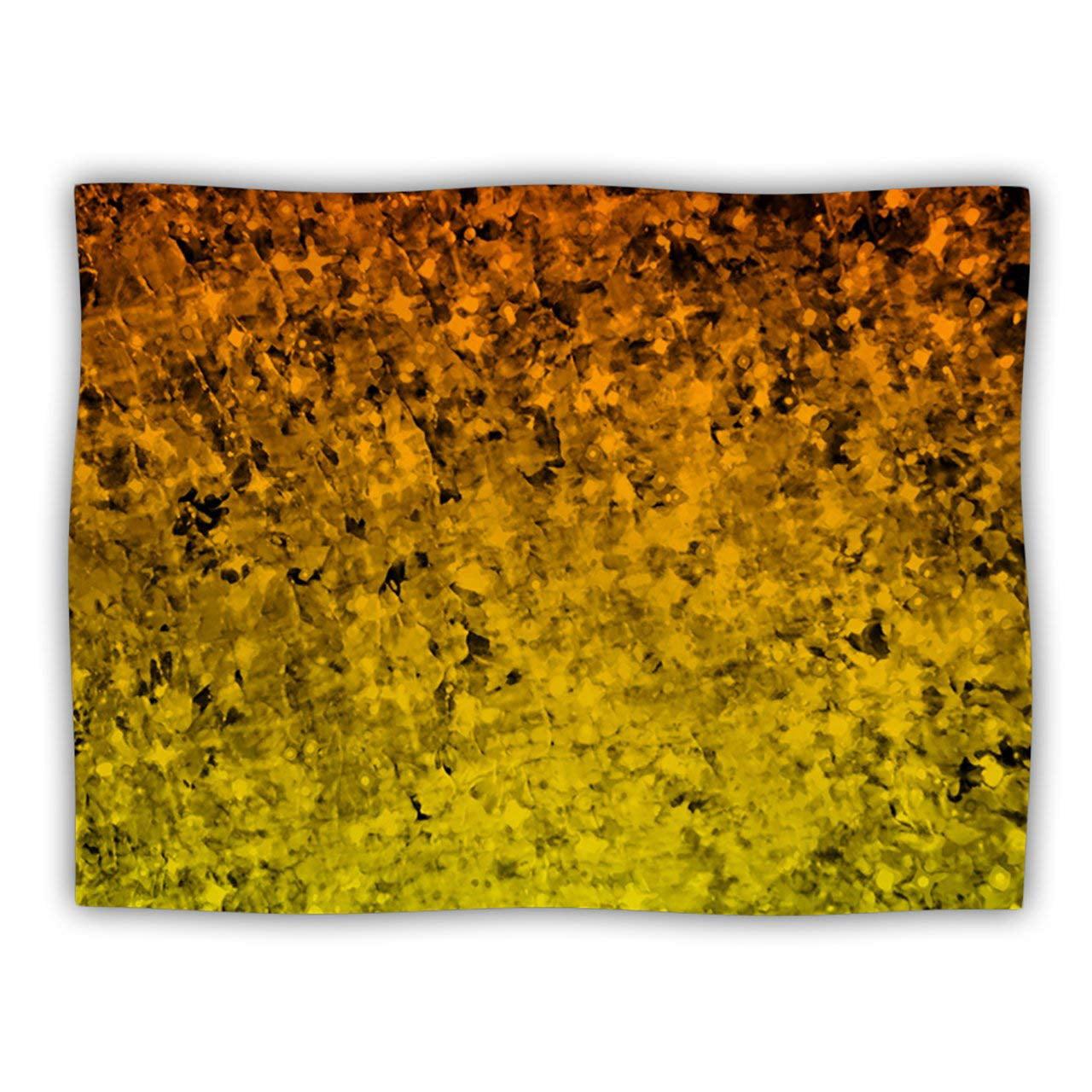 40 x 30 KESS InHouse CarolLynn Tice A Simple Abstract Yellow Gray Fleece Baby Blanket