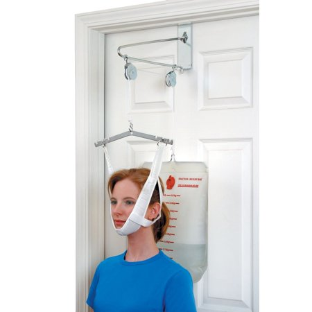 DMI Over-The-Door Cervical Neck Traction Device for Physical Therapy Exercises to Relieve Neck Pain in the Convenience of Your Home, Neck Stretcher Set, Easy Assembly