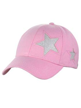 7d35710811cc Product Image C.C Women's Glitter Star Cut Design Cotton Adjustable  Precurved Baseball Cap Hat, ...
