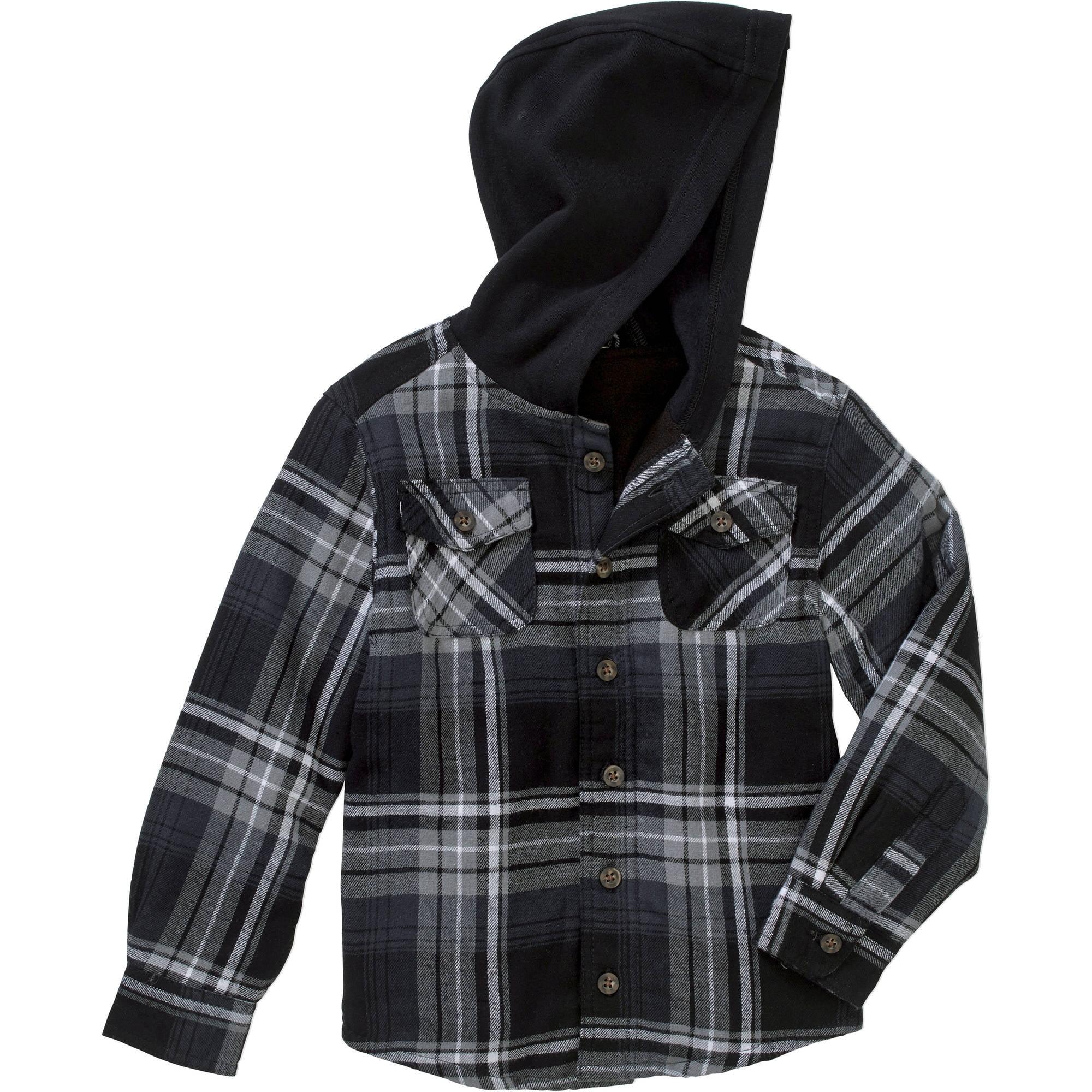 Faded Glory Boys' Lined Flannel Shirt Jacket