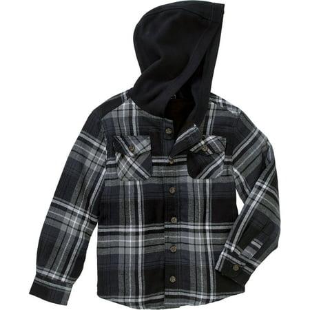 c235b817 Faded Glory - Boys' Lined Flannel Shirt Jacket - Walmart.com