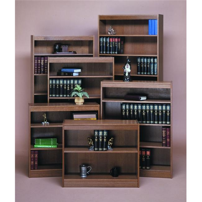 Norsons 8412-6 WB 6 Shelf Contemporary Bookcase Novacore - Walnut