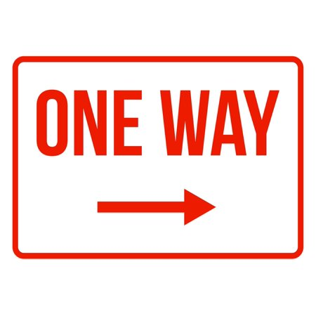 Arrow Traffic Sign (One Way Right Arrow No Parking Business Safety Traffic Signs Red -)