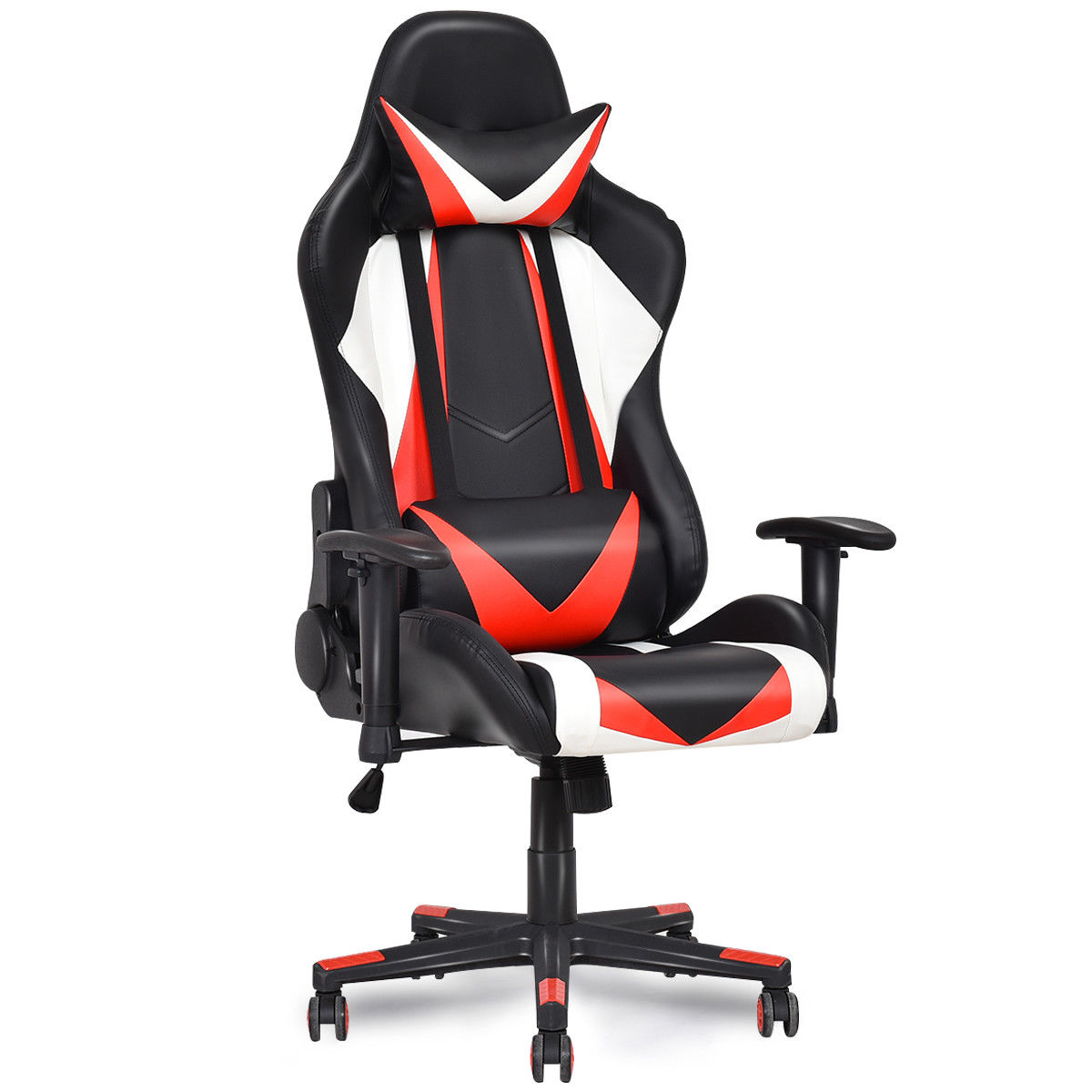 Product Image Gymax High Back Executive Racing Style Recliner PVC Chair  Gaming Chair