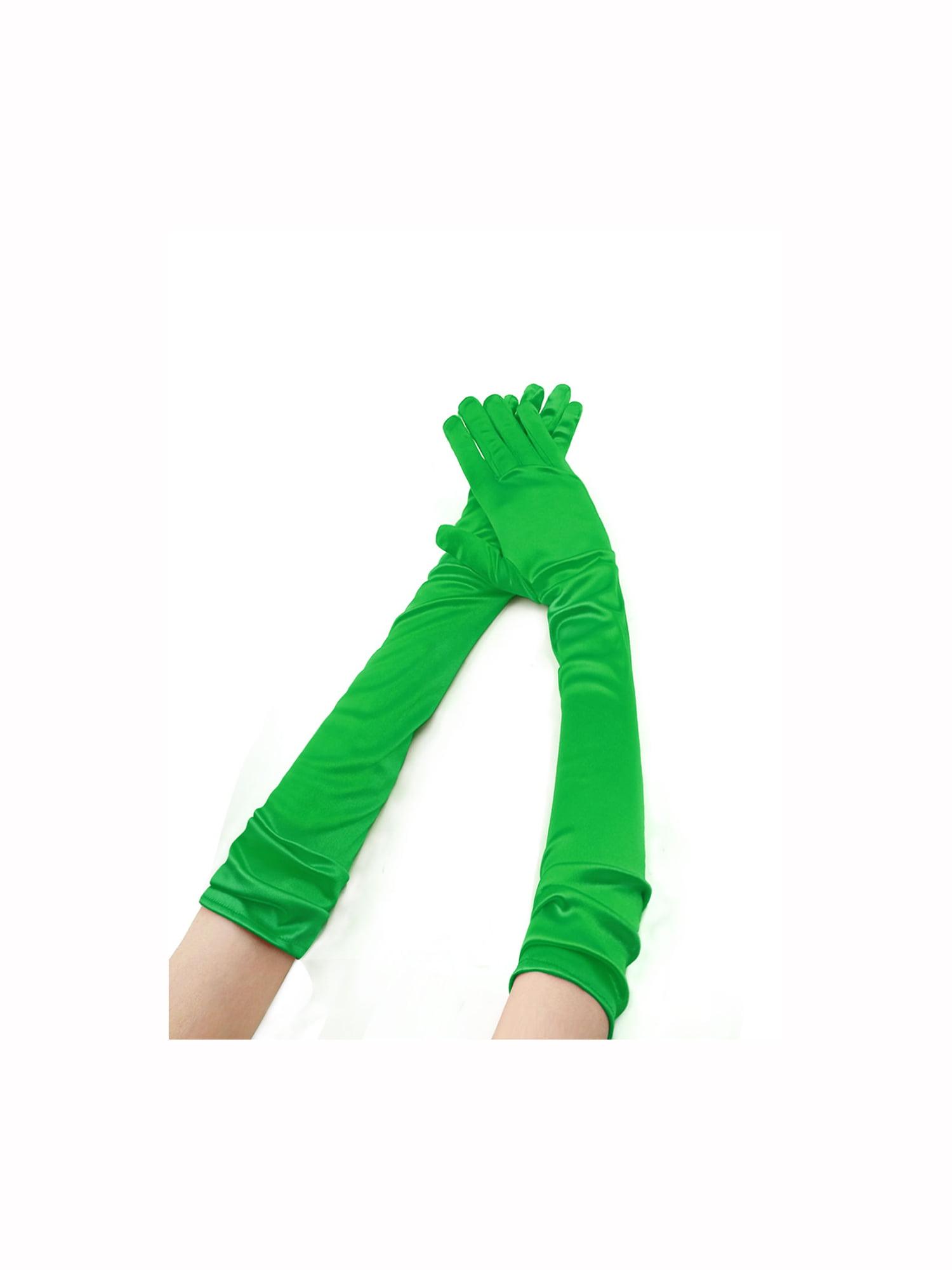 Women Stretchy Opera Length Full Finger Gloves Pairs