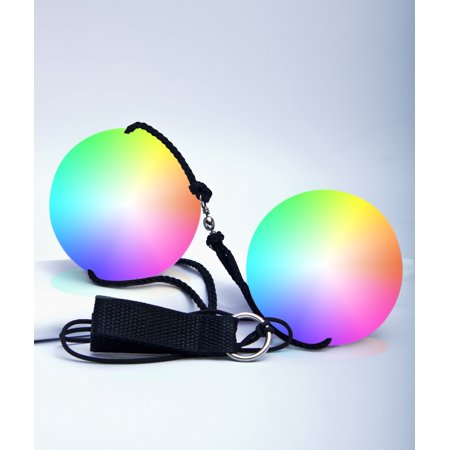 Fun Central AU266 LED Double Poi Ball - Multicolor