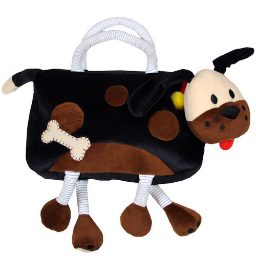 Sassafras Kid's Plush Bags Fido Overnighter Tote Bag