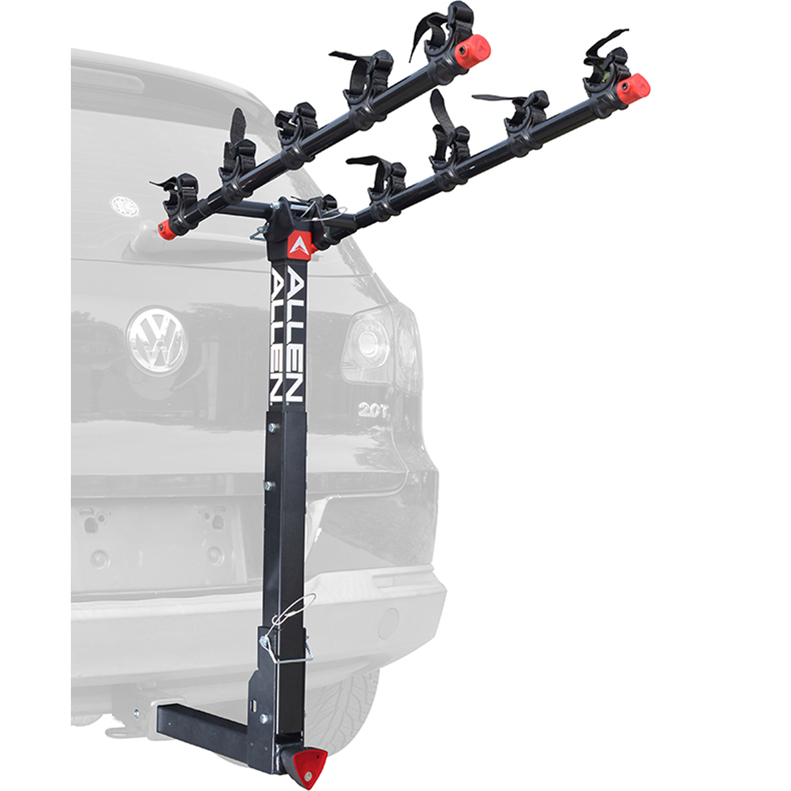 Allen Sports Deluxe Quick Install Locking 5-Bicycle Hitch Mounted Bike Rack Carrier, 552QR
