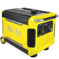 XtremepowerUS Super Quiet 3000 Watt Digital Inverter Powered Generator Camping Gas Electric Key Start w/ Wheels