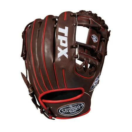 Louisville Infield Glove - Louisville Slugger 2018 Tpx Infield Baseball Glove - Right Hand Throw Dark Brown/White/Red 11.5