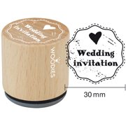 """Woodies Mounted Rubber Stamp 1.35""""-Wedding Invitation"""