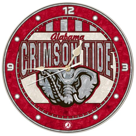 Alabama Crimson Tide 12'' Art-Glass Wall Clock - No Size Alabama Crimson Tide Clock