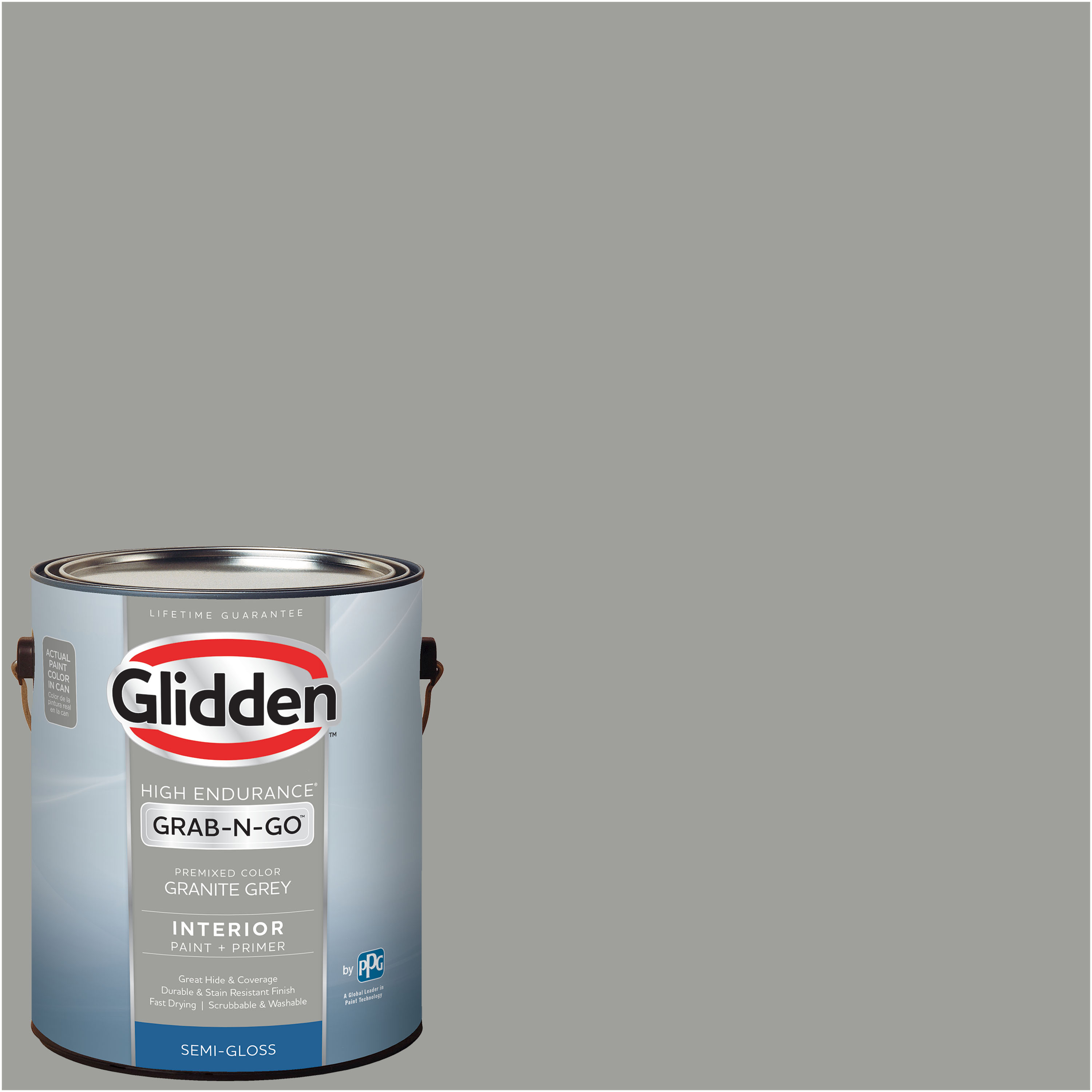 Glidden Pre Mixed Ready To Use, Interior Paint and Primer, Granite Grey, 1 Gallon