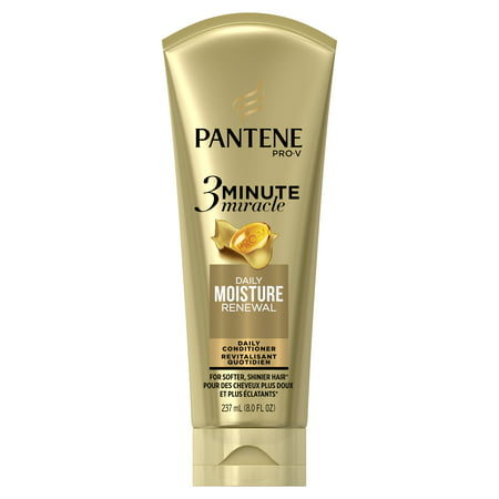 Pantene Daily Moisture Renewal 3 Minute Miracle Daily Conditioner, 8.0 fl oz Breakage Miracle Leave
