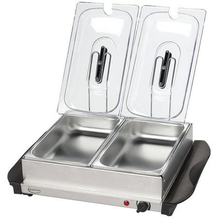 Stainless Steel Buffet Server with Warming Tray,