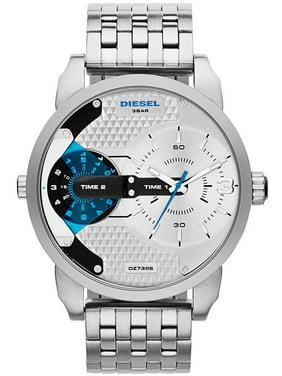 Diesel Men's Mini Daddy DZ7305 Silver Stainless-Steel Analog Quartz Watch
