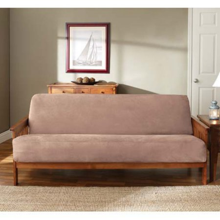Sure Fit Soft Suede Futon Slipcover, Sable ()